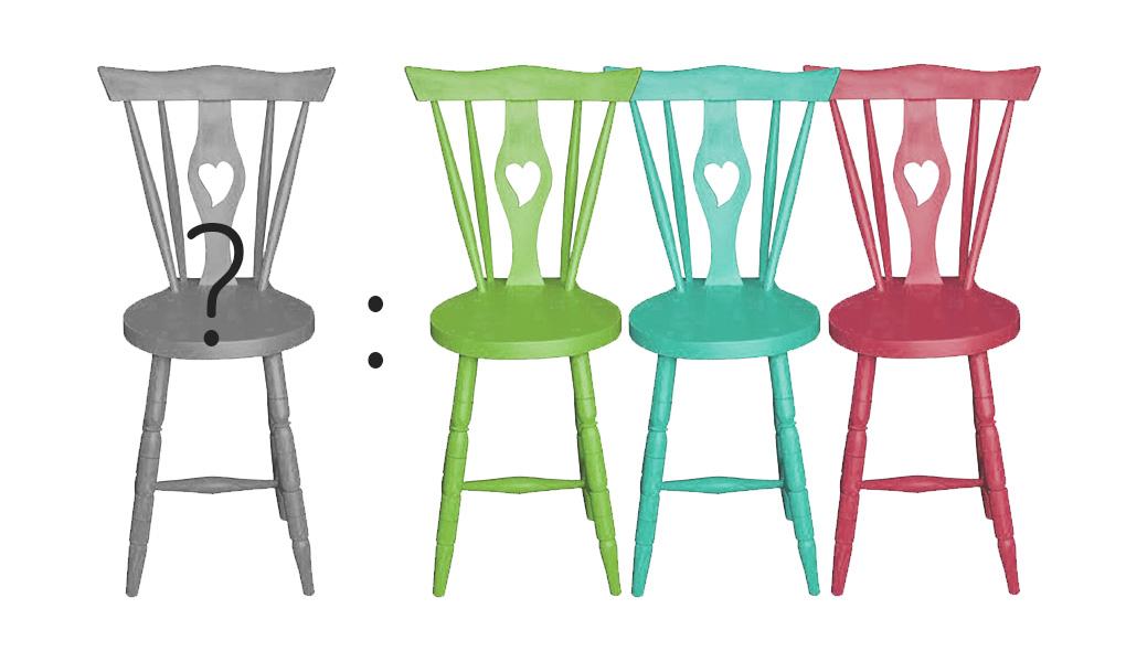 cadeiras de rabo de bacalhau